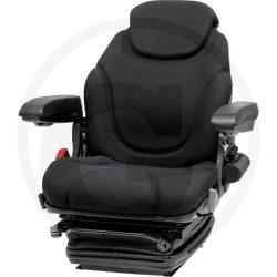 GRANIT Szuperkomfortos traktorülés, 12 V fekete szövethuzattal, ülésfűtéssel, 360°-ban elforgatható talppal INGYEN HÁZHOZ SZÁLLÍTVA!